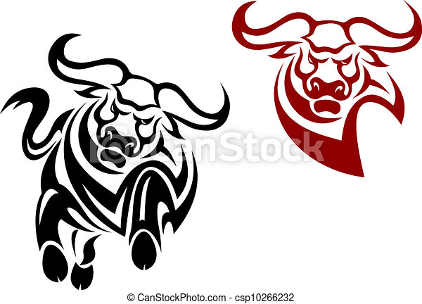 Bull and buffalo mascots - csp10266232