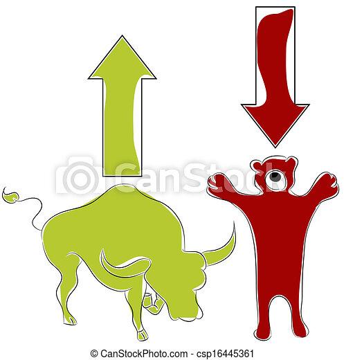 Bull Bear Stock Market - csp16445361