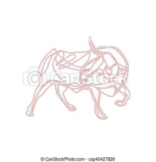 Bull cartoon - vector illustration - csp45427826