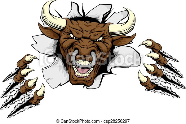 Bull claws break out - csp28256297