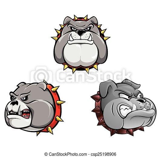 Bull Dog Head Collection - csp25198906