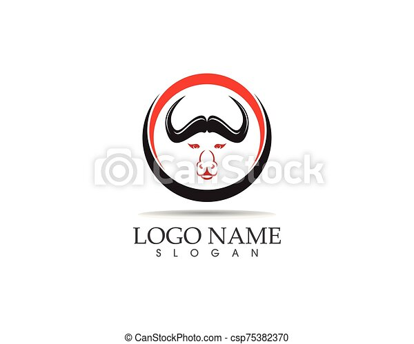 Bull head icon logo design vector template - csp75382370