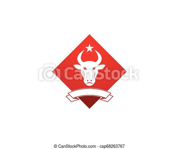 Bull head icon logo vector - csp68263767
