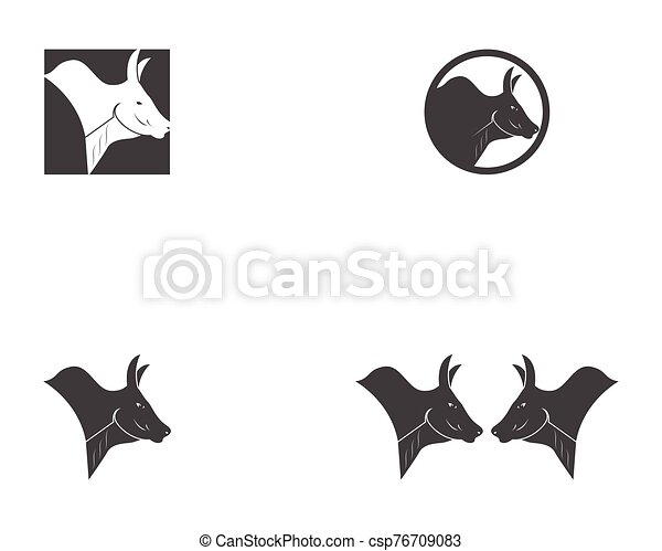 Bull head icon logo vector - csp76709083