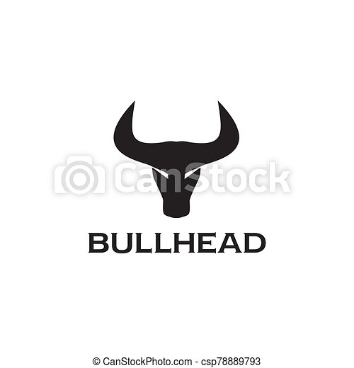 Bull head logo design vector template - csp78889793