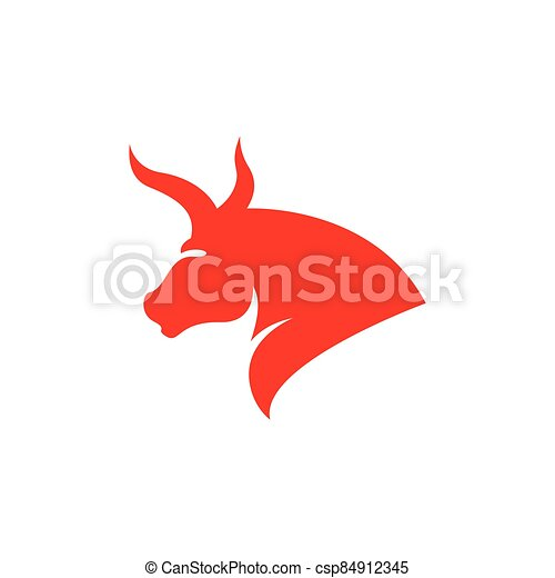 Bull head logo vector icon - csp84912345