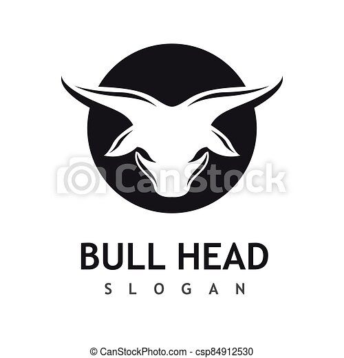 Bull head logo vector icon - csp84912530