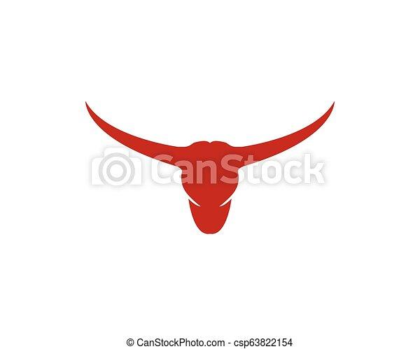 Bull head logo vector icon illustration design - csp63822154