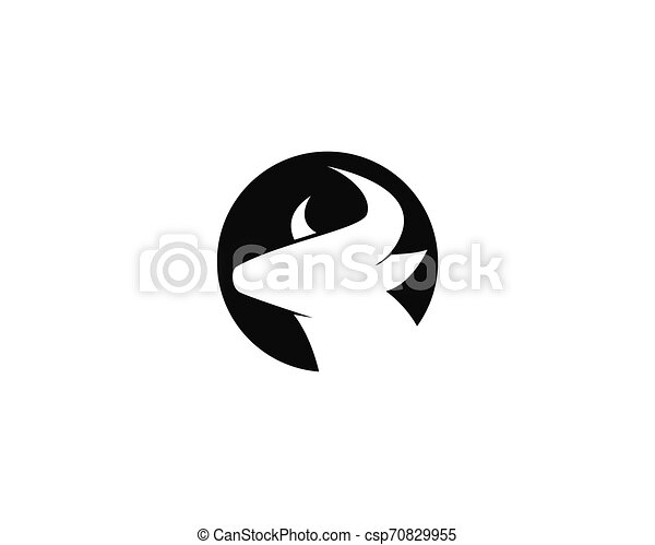 Bull head logo vector icon illustration - csp70829955