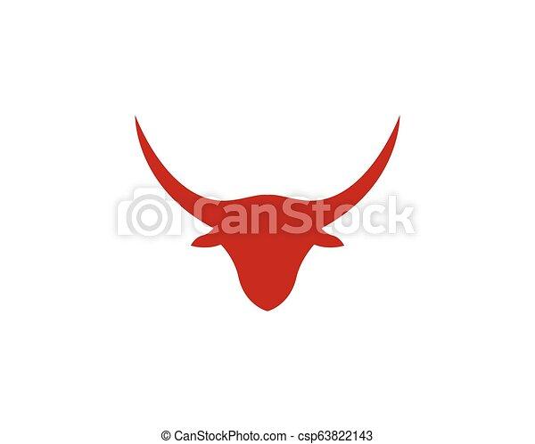 Bull head logo vector icon illustration design - csp63822143