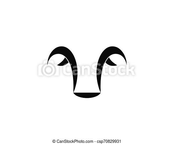 Bull head logo vector icon illustration - csp70829931