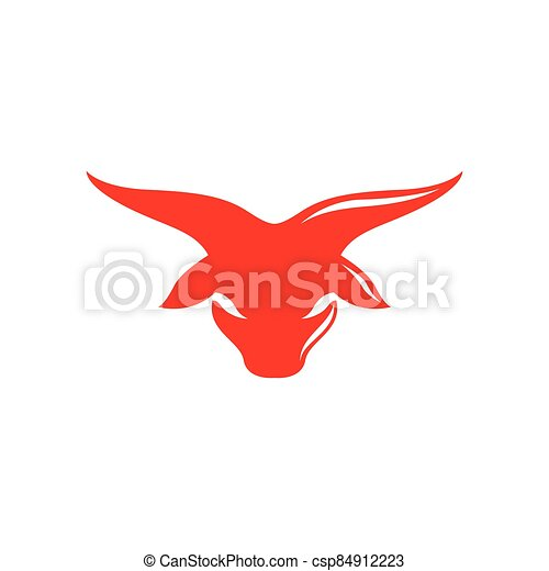 Bull head logo vector icon - csp84912223