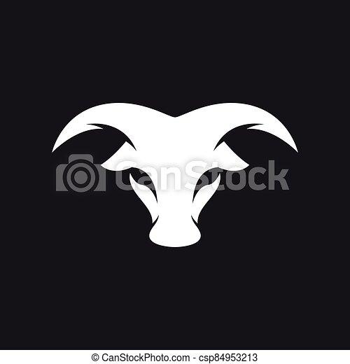 Bull head logo vector icon - csp84953213