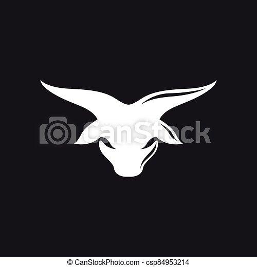 Bull head logo vector icon - csp84953214