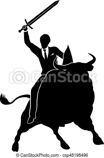 Bull Market Businessman Concept - csp48198496