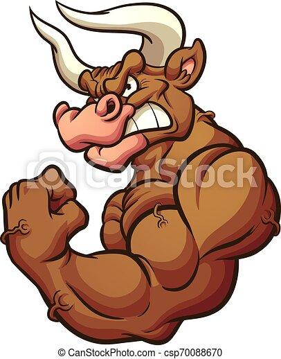 Bull mascot - csp70088670