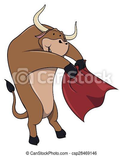 Bull matador - csp28469146