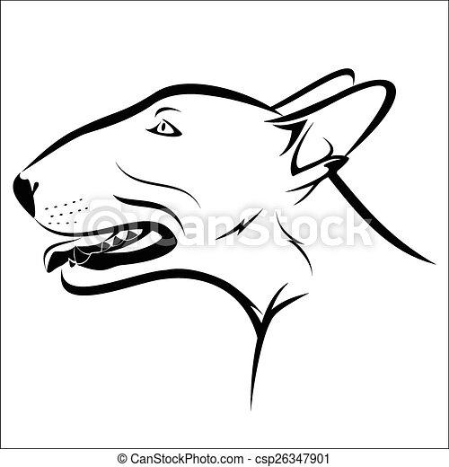 Bull terrier - csp26347901