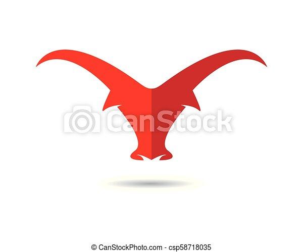 Bull vector icon illustration - csp58718035