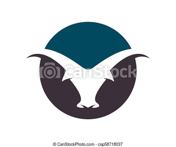 Bull vector icon illustration - csp58718037