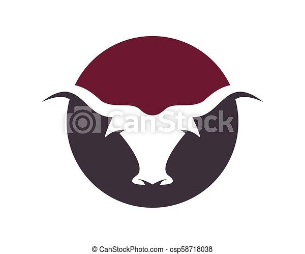 Bull vector icon illustration - csp58718038