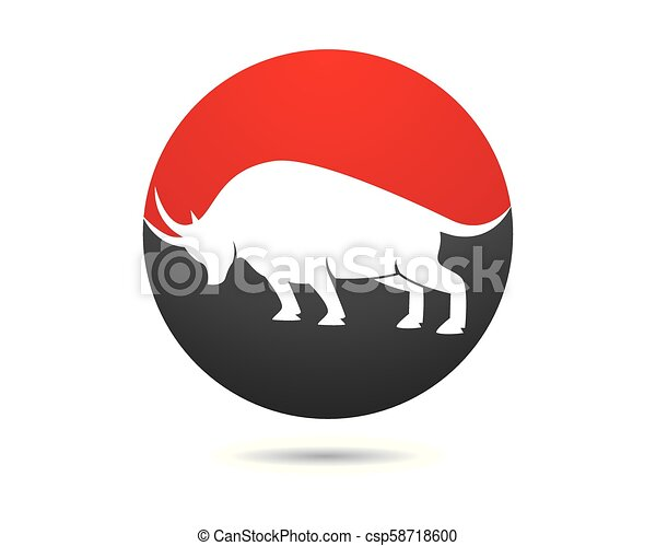 Bull vector icon illustration - csp58718600