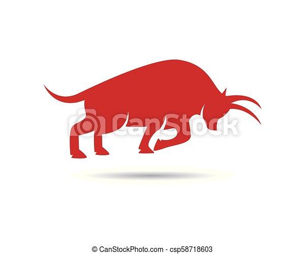 Bull vector icon illustration - csp58718603