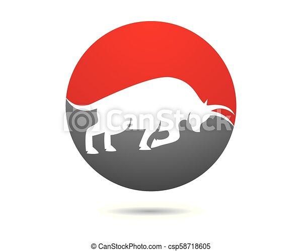 Bull vector icon illustration - csp58718605