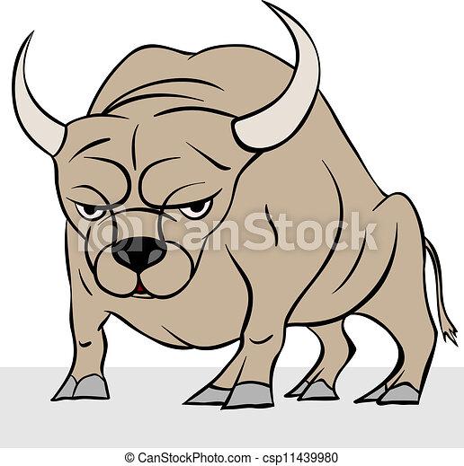 bull vector illustration - csp11439980
