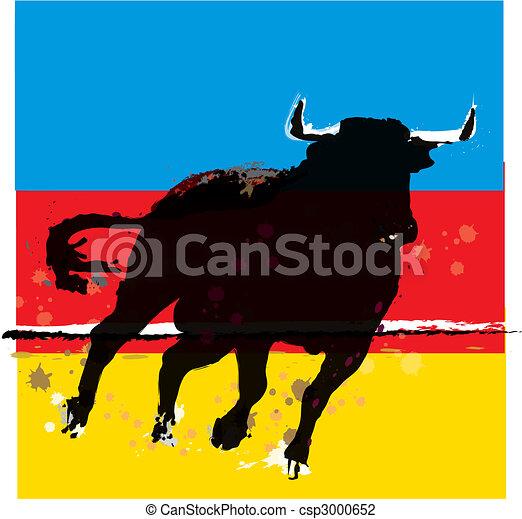 Bull Vector Illustration - csp3000652