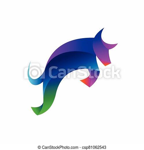 Bull vector logo, buffalo logo design - csp81062543