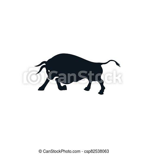 Bull vector logo design. - csp82538063