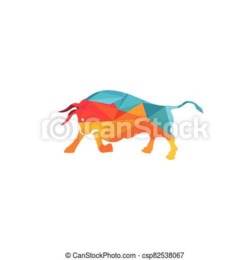 Bull vector logo design. - csp82538067
