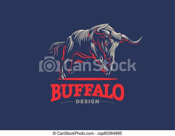 Bull. Vector logo. - csp60364995