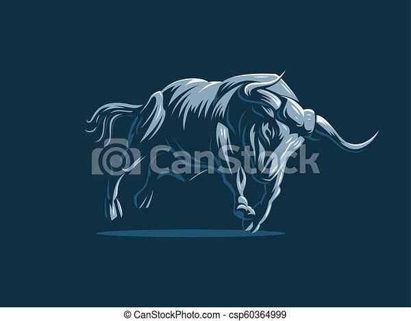 Bull. Vector logo. - csp60364999
