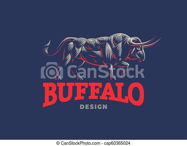 Bull. Vector logo. - csp60365024