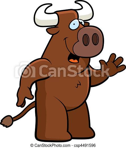Bull Waving - csp4491596