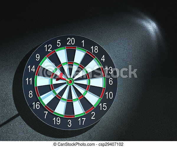 bull's-eye, 矢, さっと動く - csp29407102
