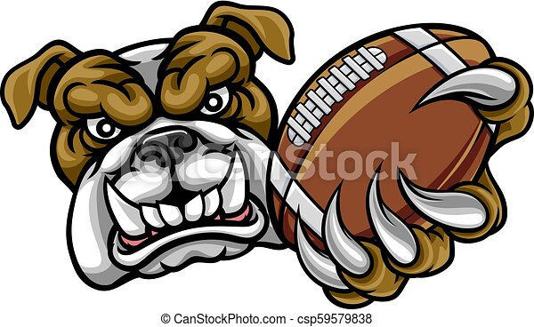 Bulldog American Football Mascot - csp59579838