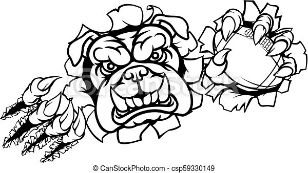 Bulldog American Football Sports Mascot - csp59330149