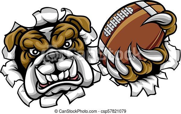 Bulldog American Football Sports Mascot - csp57821079