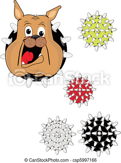 Bulldog and his tough toys.. - csp5997166