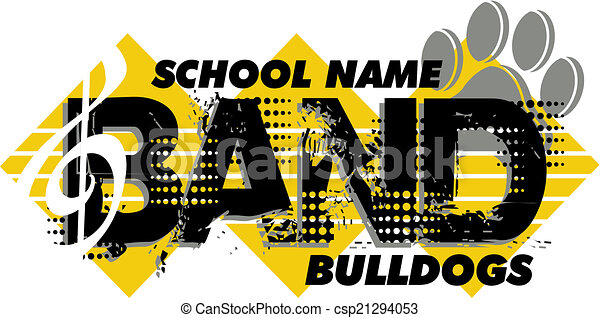 bulldog band design - csp21294053