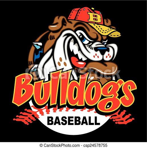 bulldog baseball - csp24578755