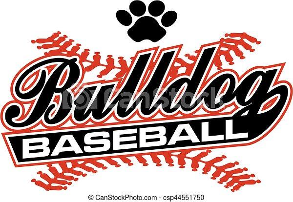 bulldog baseball - csp44551750