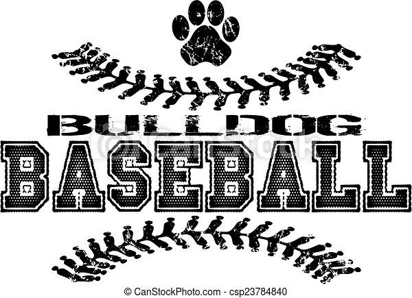 bulldog baseball design - csp23784840