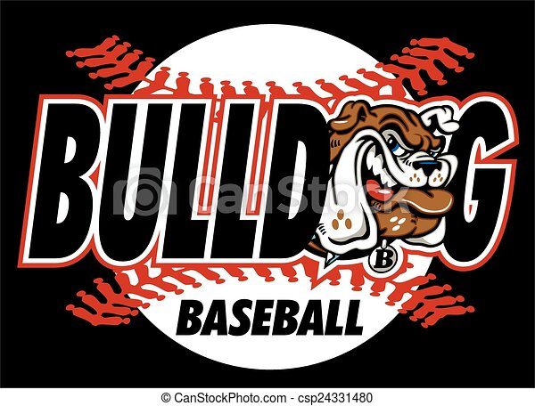 bulldog baseball - csp24331480