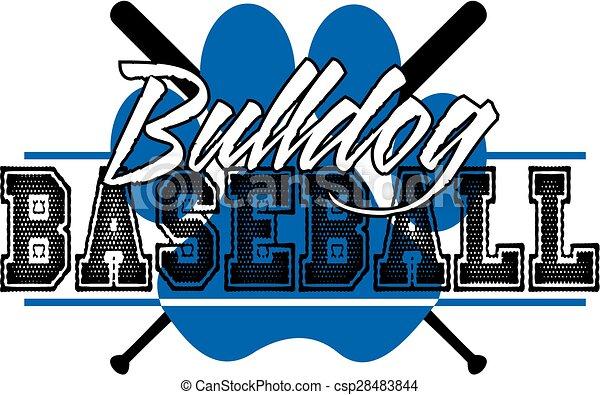 bulldog baseball - csp28483844