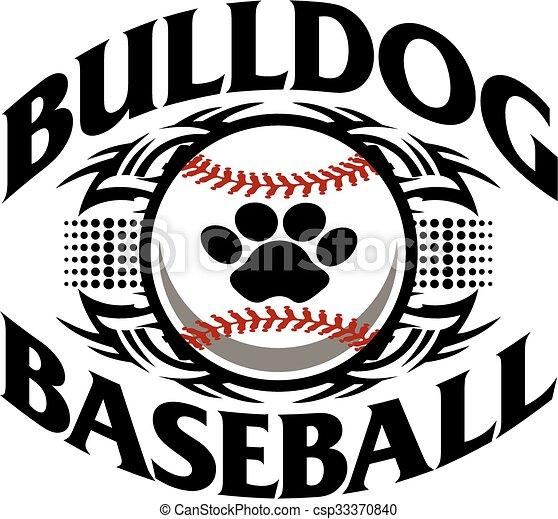 tribal bulldog baseball team design with paw print inside eps rh canstockphoto com baseball diamond vector art baseball vector art clipart