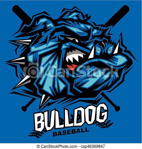 bulldog baseball - csp46369847